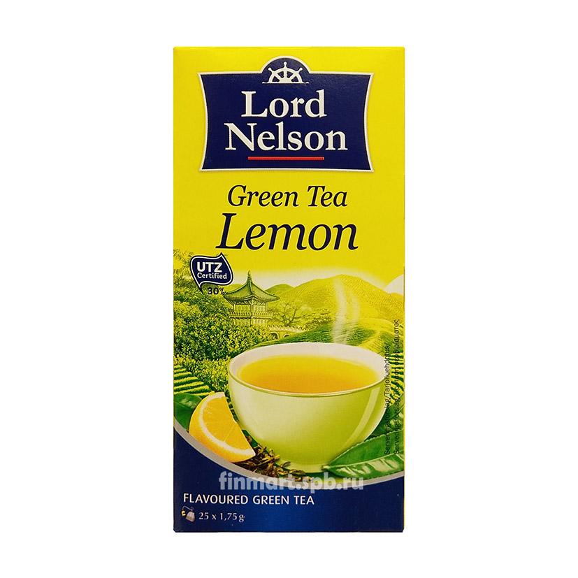 Зелёный чай в лимоном Lord Nelson Creen Tea Lemon - 25 пак.
