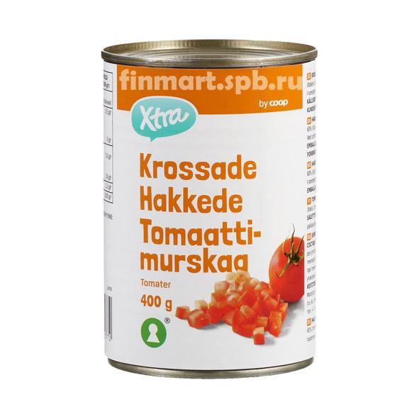 Рубленые томаты в собственном соку X-tra - 400 гр.