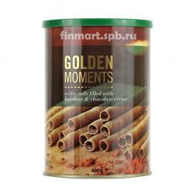 Вафельные палочки Becky's  Golden moments (с орехово шоколадным кремом) - 400 гр.