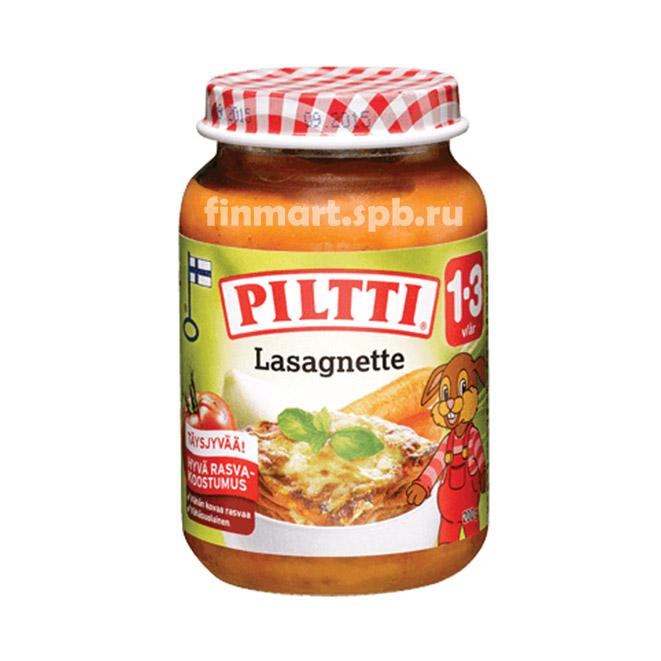 Детское овощное пюре Пилти лазанья - 190 гр.