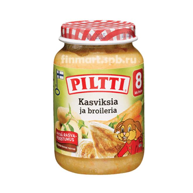 Детское овощное пюре Пилти овощи и курица - 190 гр.