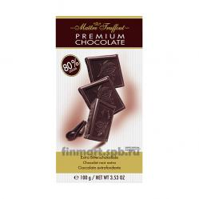 Тёмный шоколад Maitre truffout premium chocolate 80% cocao - 100 гр.