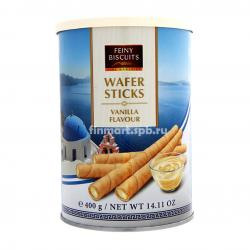 Вафельные палочки Feiny Biscuits Wafer Sticks vanilla (ваниль) - 400 гр.