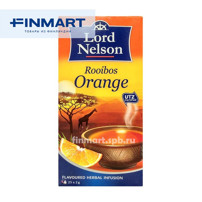 Чёрный чай Lord Nelson Rooibos Orange (ройбуш, апельсин) - 25 пак.