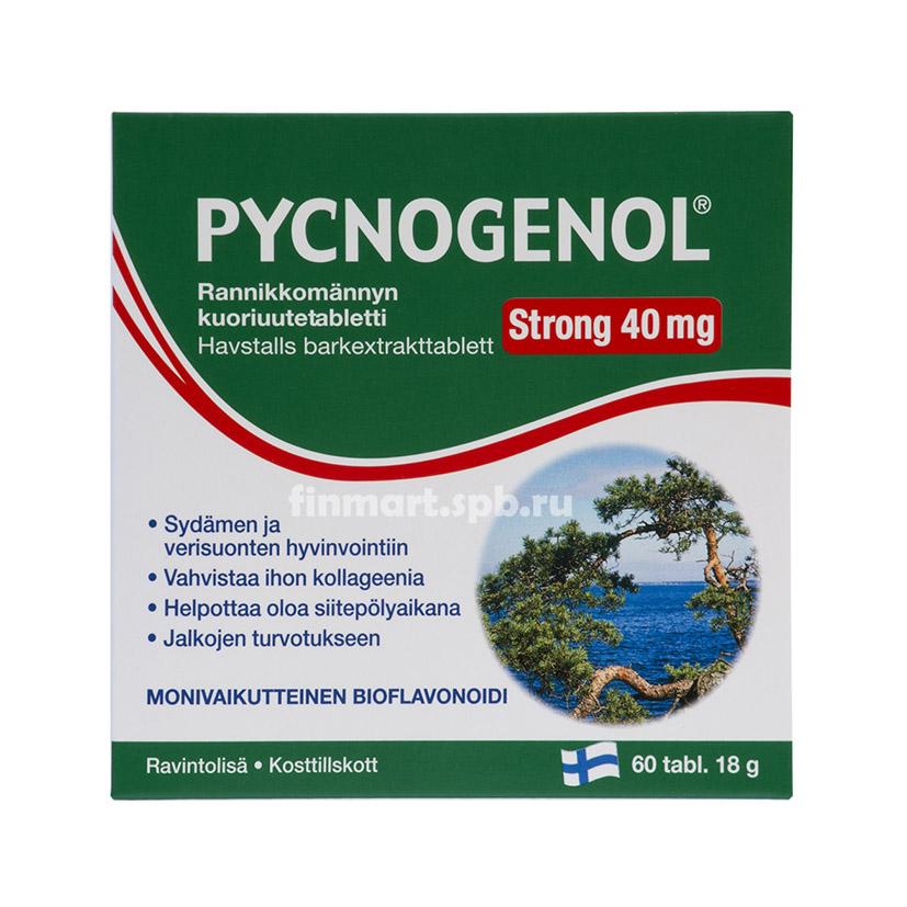 Pycnogenol Strong 40mg (пикногенол) - 60 таб.