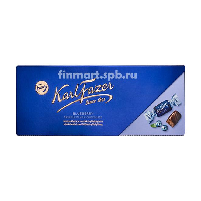 Конфеты шоколадные с черникой Fazer Blueberry Truffle in milk chokolate - 270 гр.