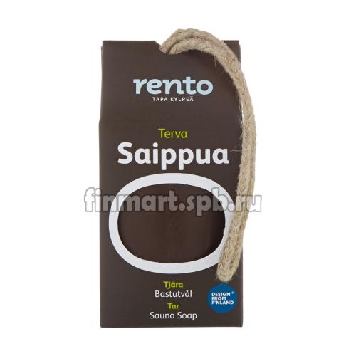 Мыло для бани и сауны Rento terva Saippua (дегтярное) - 150 гр.