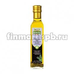 Оливковое масло Basso extra virgin olive oil with al Rosmarino (с розмарином) - 250 мл.