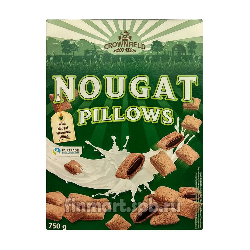 Сухой завтрак Crownfield nougat pillows (подушечки c нугой) - 750 гр.