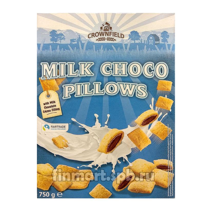 Сухой завтрак Crownfield milk choco pillows (подушечки с молочным шоколадом) - 750 гр.