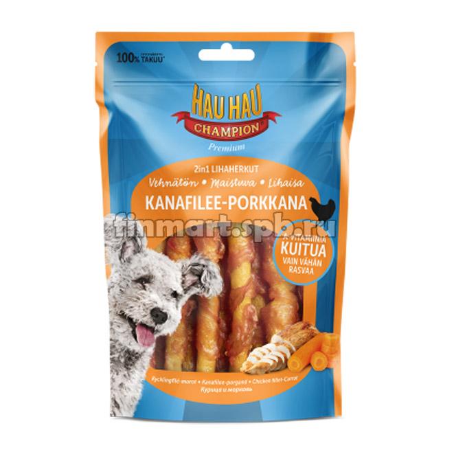 Лакомство для собак Hau hau Kanafilee-porkkana (курица, морковь) - 100гр.