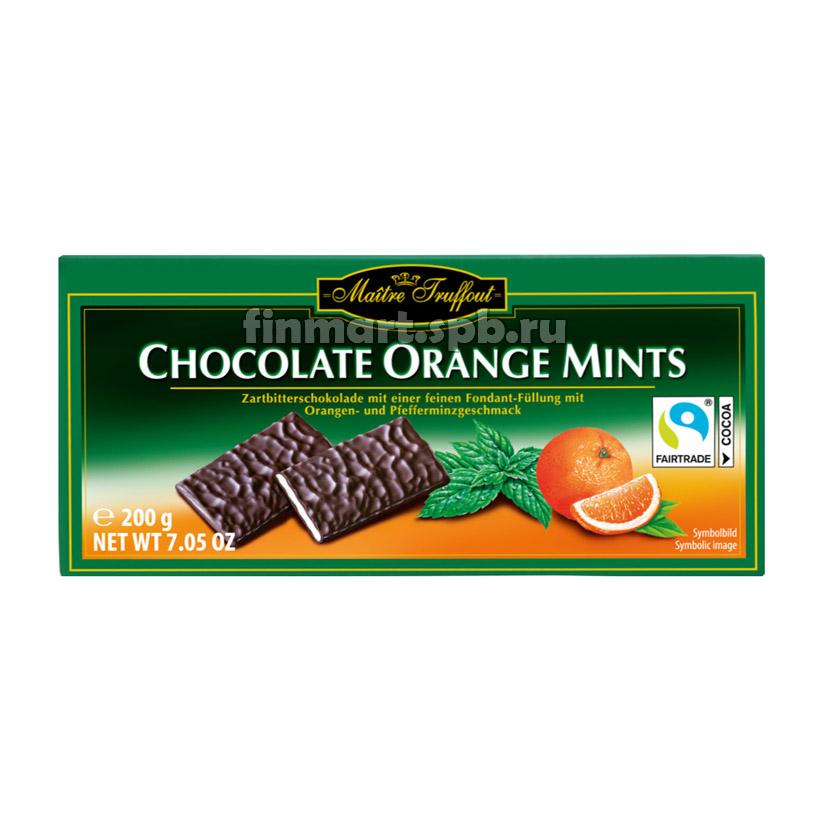 Maitre Truffout Chocolate Orange Mints - 200 гр.