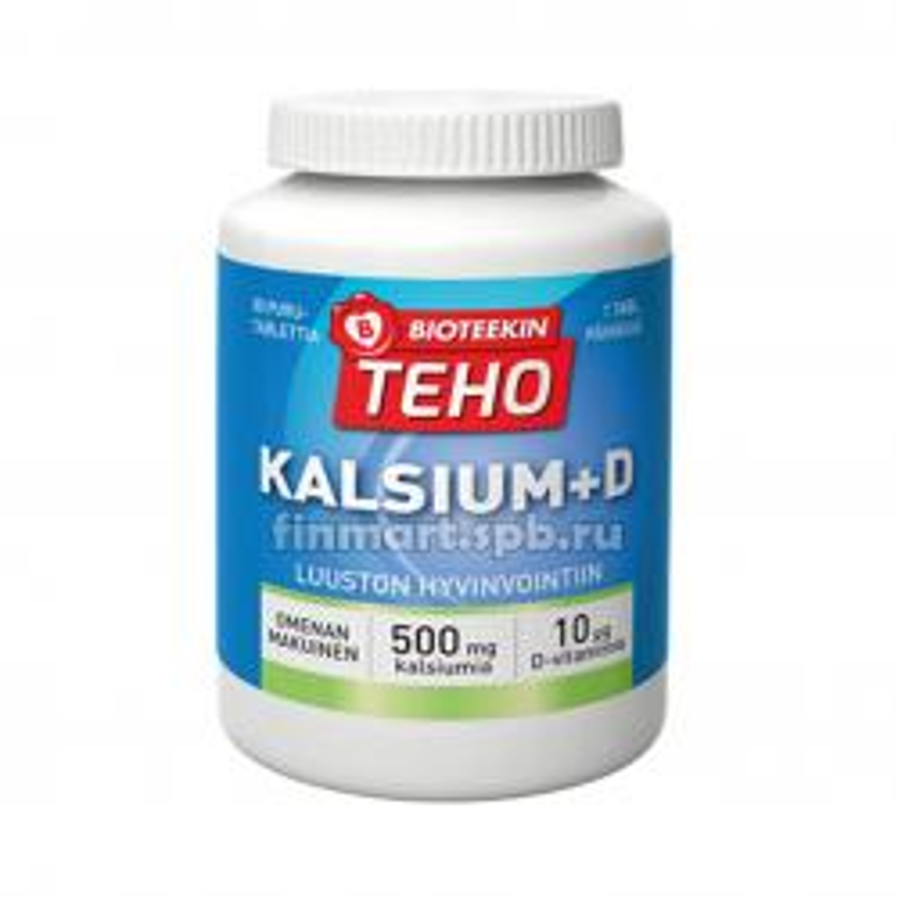 Витамины Bioteekin Teho Kalsium+D (Калиций + витамин Д) - 80 таб.