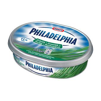 Плавленный сыр Philadelphia (с зеленым луком) - 200 гр.