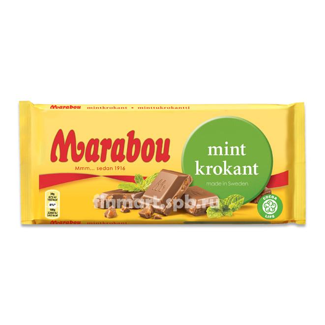 Шоколад Marabou (Марабу)  мята и карамель