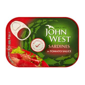 Филе сардины John West (в томатном соусе) - 95 гр.