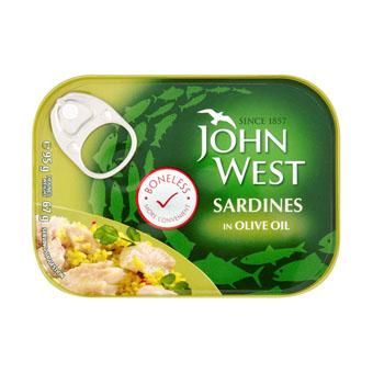 Филе сардины John West (в масле) - 95 гр.