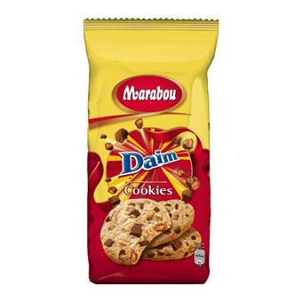 Овсяное печенье с кусочками шоколада и карамели Marabou Daim - 184 гр.