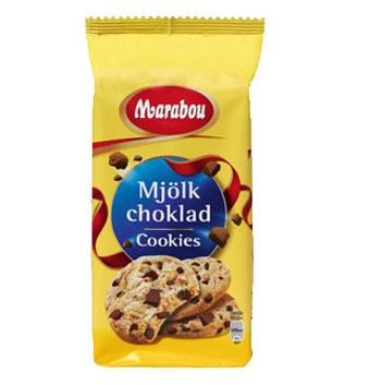 Овсяное печенье Marabou Mork choklad (Марабу с кусочками темного шоколада) - 184 гр.
