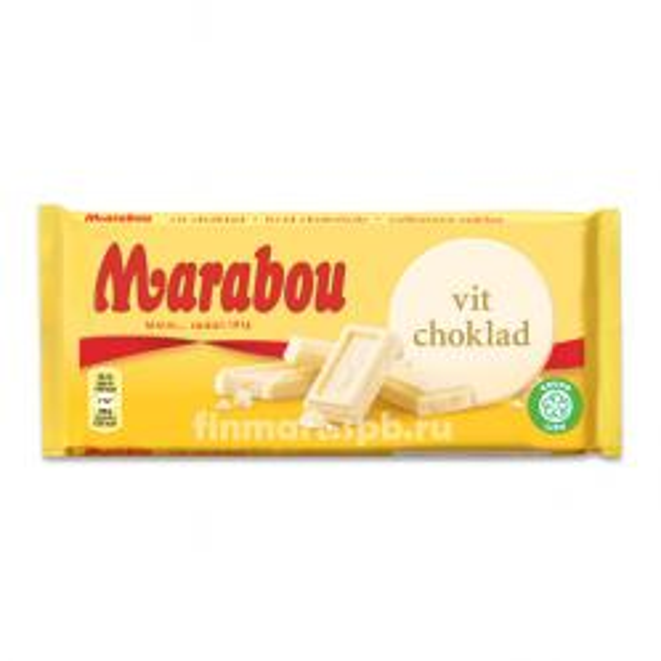 Белый шоколад Marabou Vit Choklad - 185 гр.
