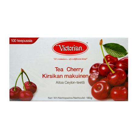 Чёрный чай Victorian Cherry (с ароматом вишни) - 100 пак.