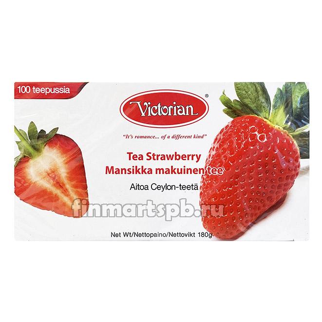 Чёрный чай Victorian Strawberry (клубника) - 100 пак.