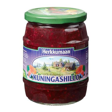 Варенье Herkkumaan kuningashillo (клубника-черника-малина) - 640 гр.