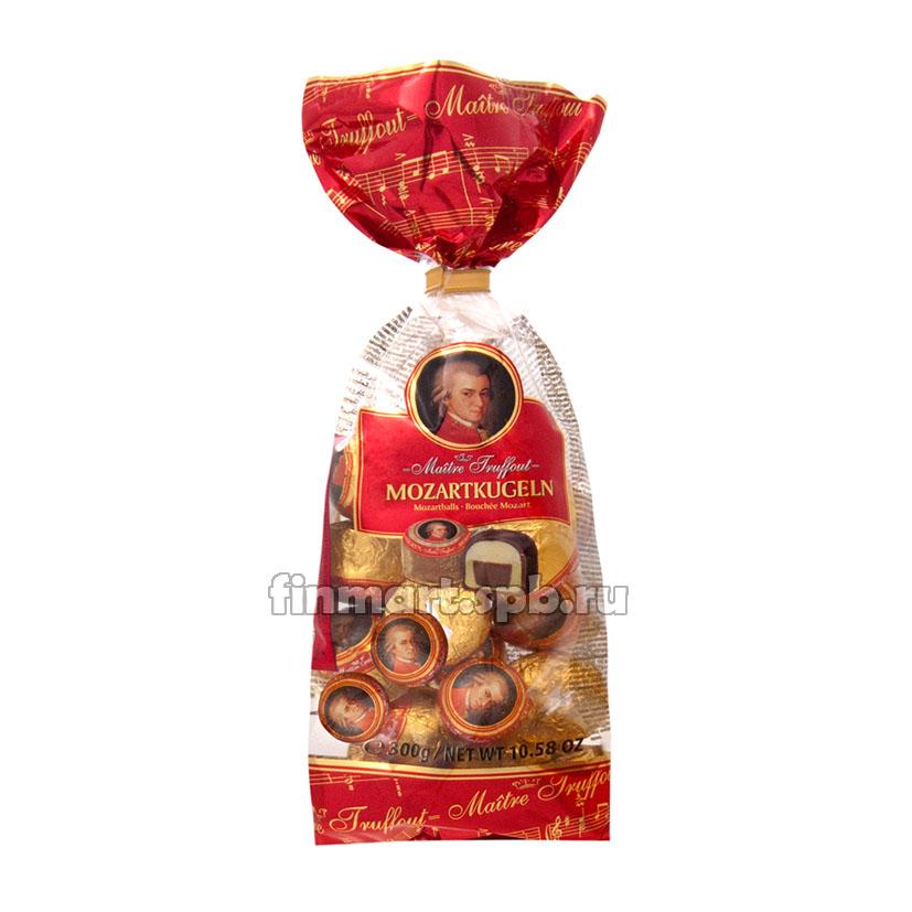 Шоколадные шарики с марципаном Maitre Truffout Mozartkugeln - 297 гр.