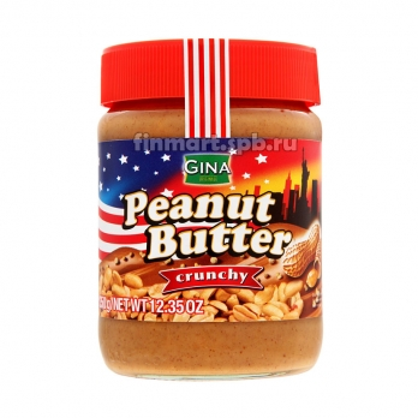 Арахисовое масло Gina Peanut Butter crunchy - 350 гр.