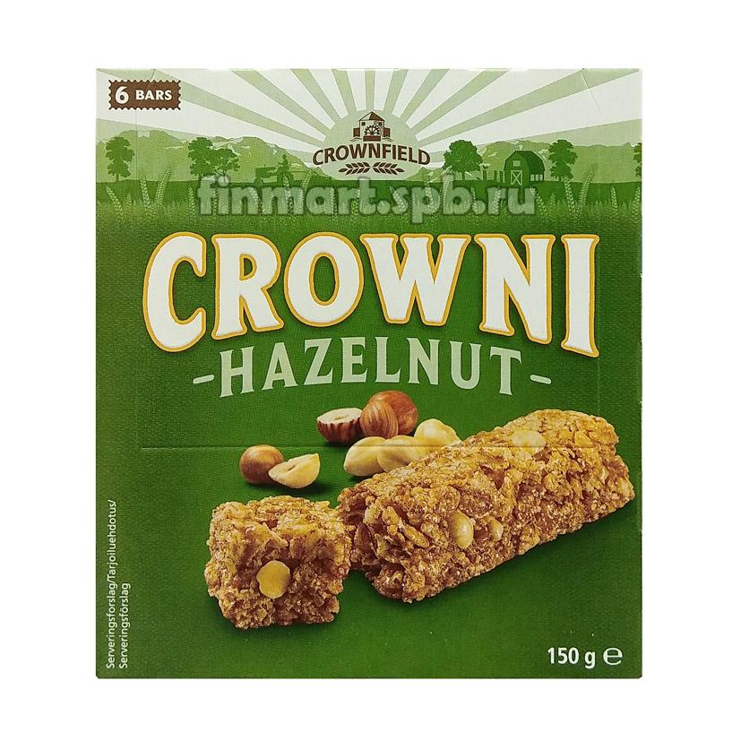 Батончики мюсли CROWNI Hazelnut (с лесным орехом) - 6 шт.