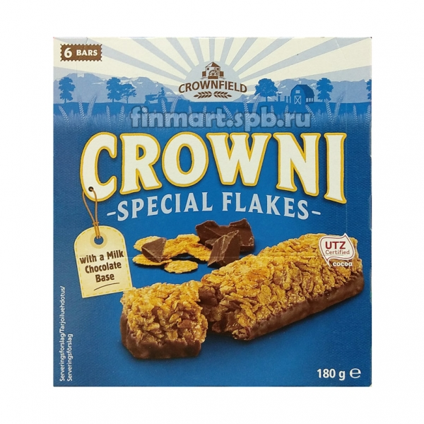 Батончики мюсли CROWNI special flakes - 6 шт.