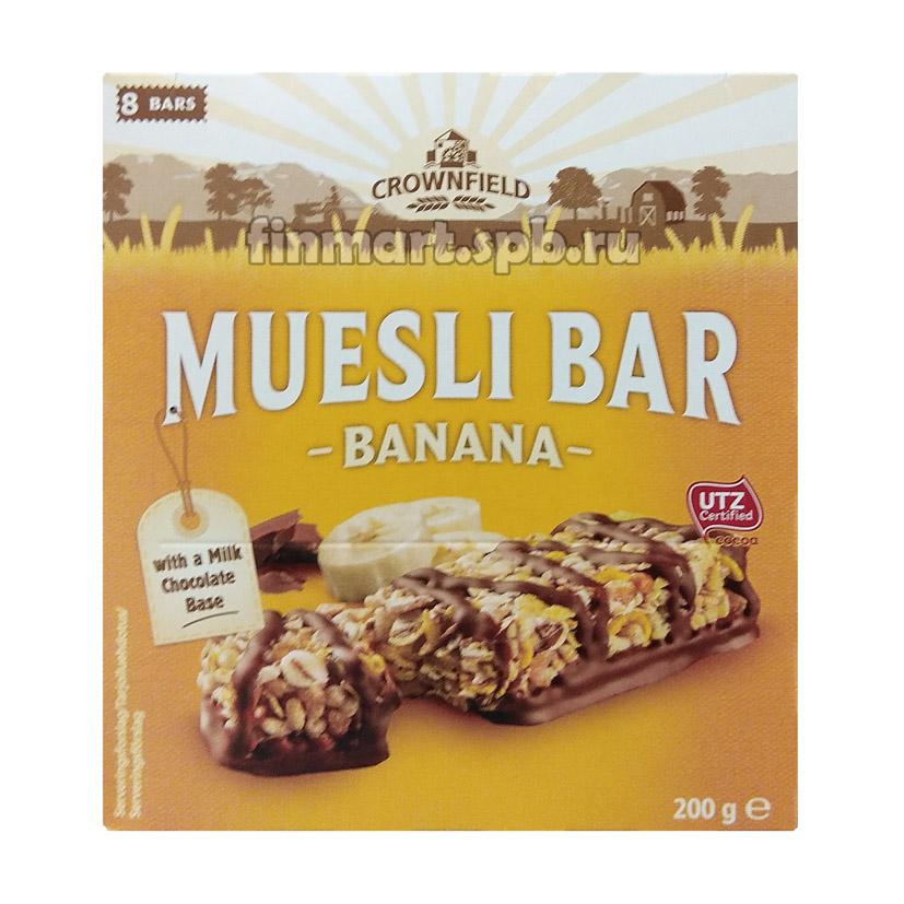 Батончики мюсли Muesli Bar Banana (с бананом) - 8 шт.