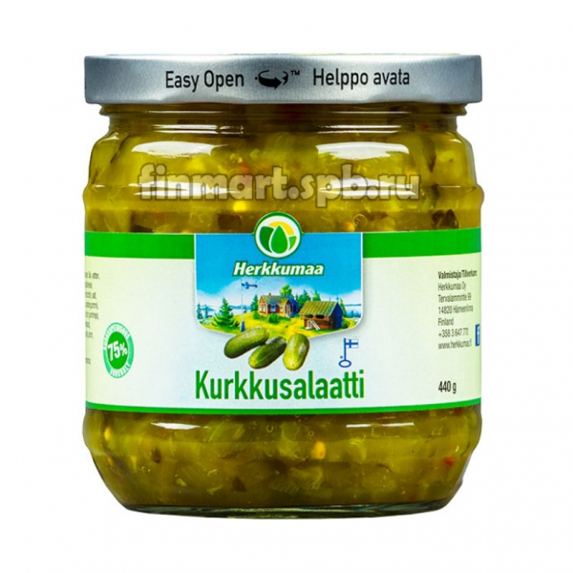 Салат из огурцов Herkkumaa Kurkkusalaatti - 440 гр.