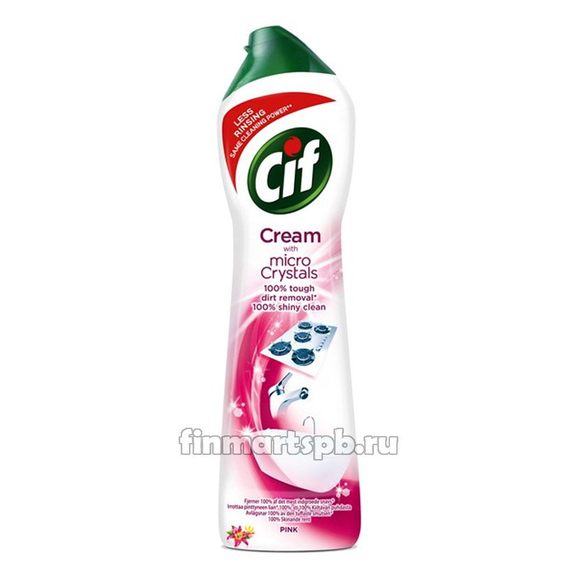 Чистящий крем Cif cream Pink (с ароматом цветов) - 500 мл.