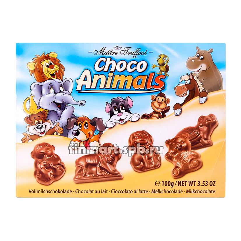 Молочный шоколад Maitre Truffout choko animals - 100 гр.