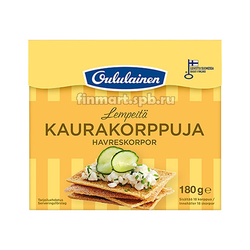 Хлебцы ржаные с отрубями Oululainen Kaurakorppuja - 180 гр.