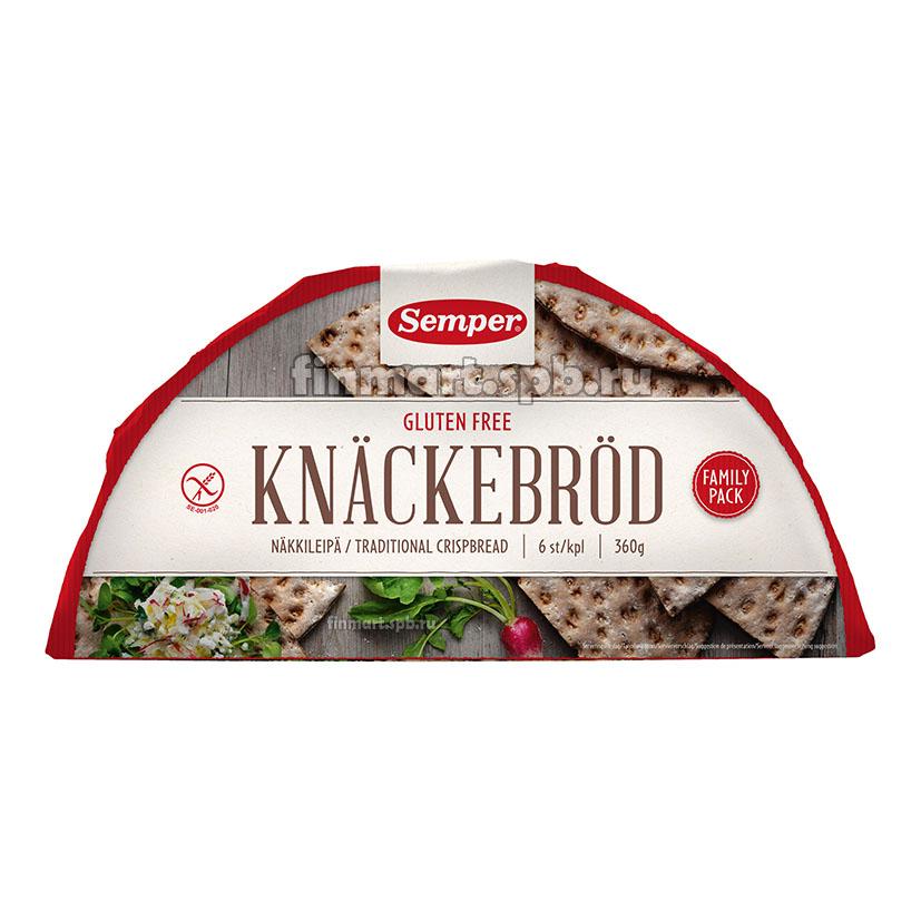 Пшеничные хлебцы Semper Näkkileipä gluteeniton (без глютена) - 360 гр.