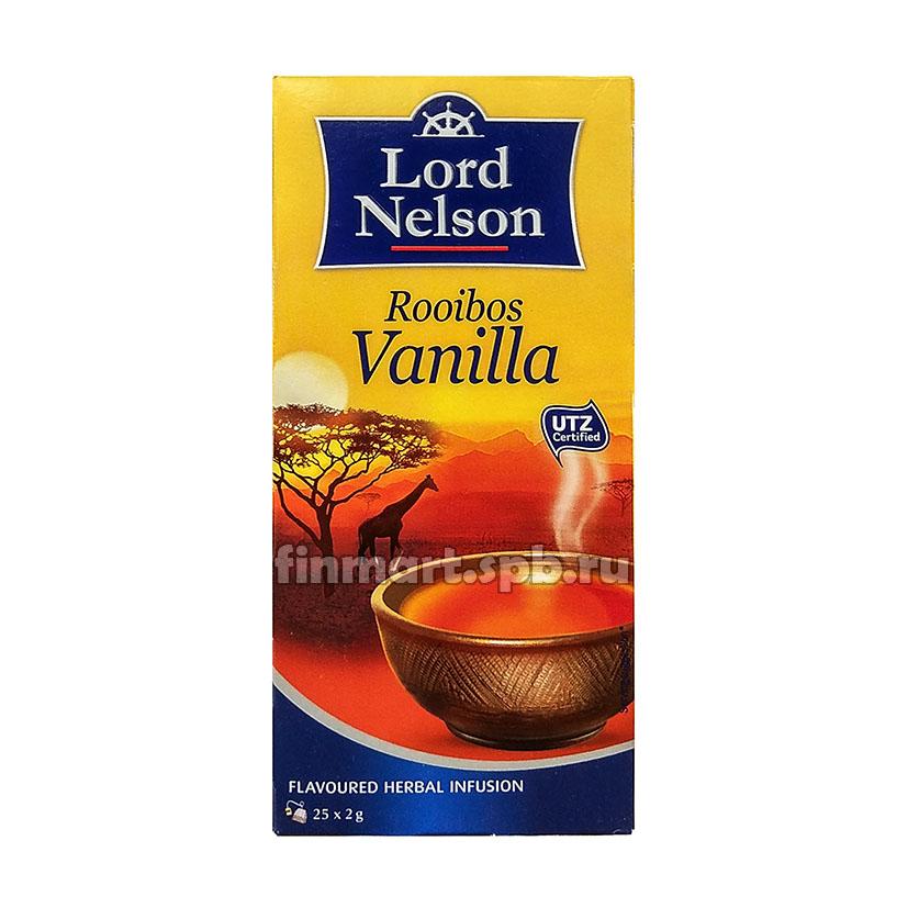 Чёрный чай Lord Nelson Rooibos Vanilla  (Ройбуш, ваниль) - 25 пак.