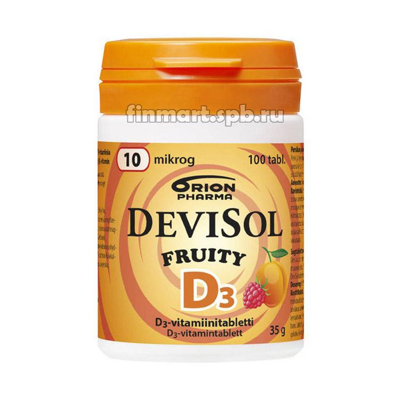 Витамин Д3 DeviSol D3 Fruity 10 mkg - 100 шт.