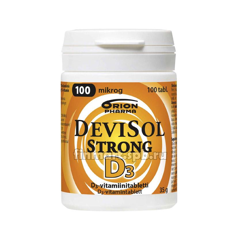 Витамин Д3 DeviSol Strong D3 100 мкг - 100 шт.
