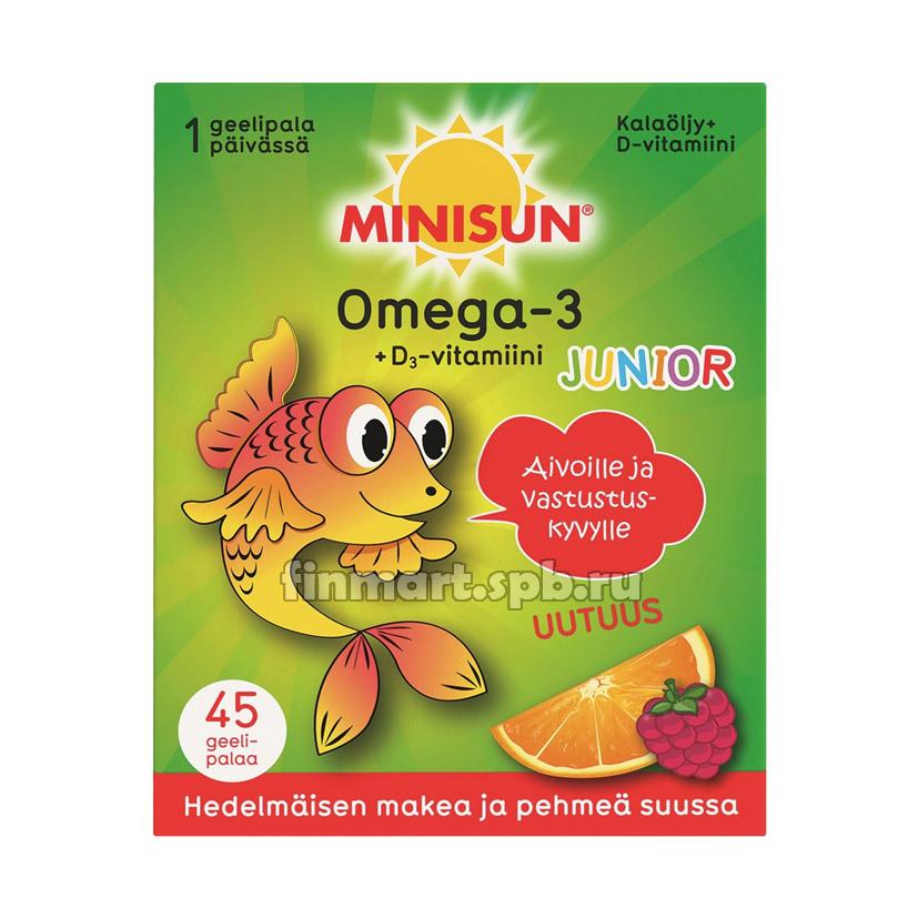 Витамины омега 3 для детей Minisun Omega 3 Junior - 45 шт.