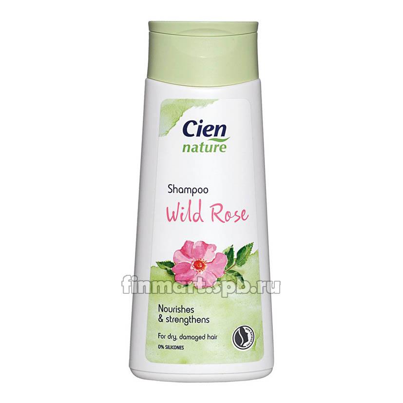 Шампунь  увлажняющий Cien Nature shampoo wild rose (с экстрактом розы) - 200 мл.