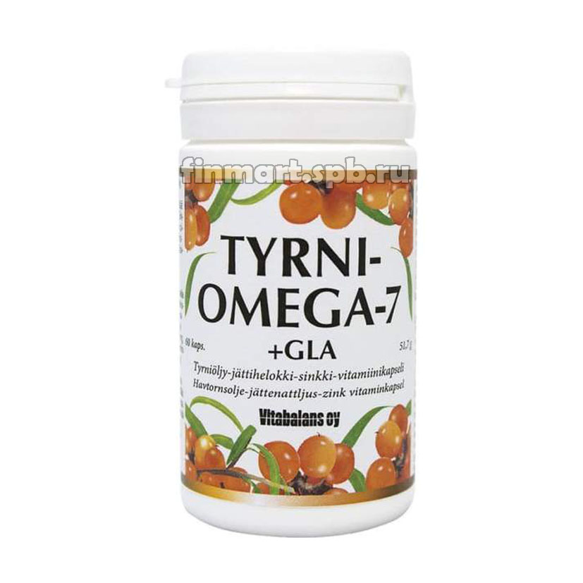 Витамины с облепихой Tyrni Omega-7 + Gla - 60 шт.