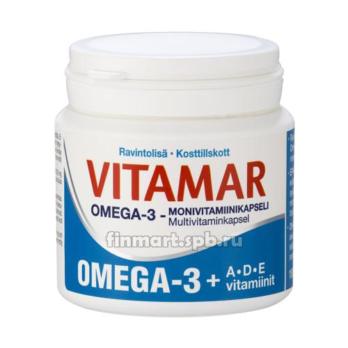 Витамины Vitamar Plus (Омега-3 + витамины A, D, E) - 100 шт.