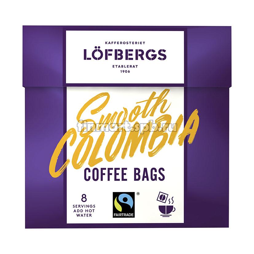 Кофе растворимый в пакетиках Lofbergs Smooth Colombia - 8 шт.