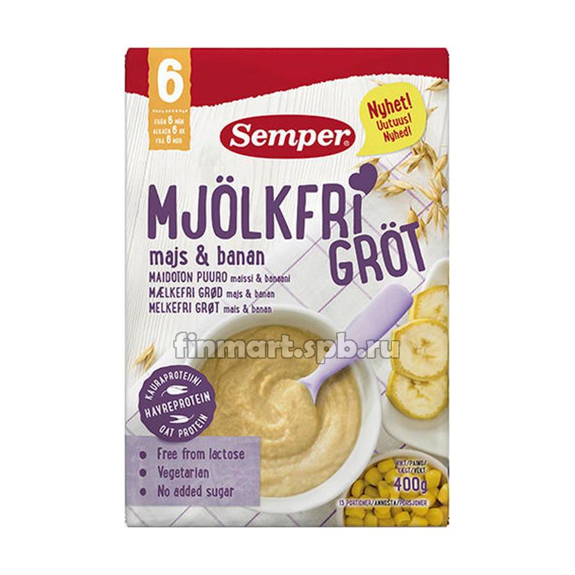Каша безмолочная Semper Mjolkfri Grot (с кукурузой и бананом) - 600 гр.