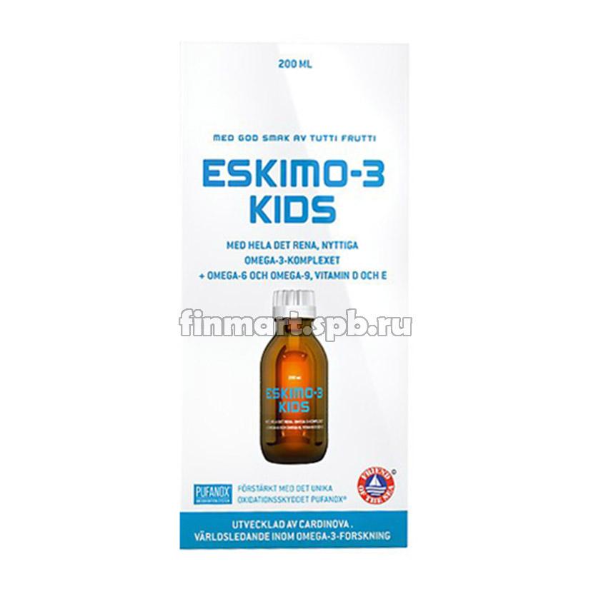 Рыбий жир для детей Eskimo kids (омега 3-6-9) - 210 мл.