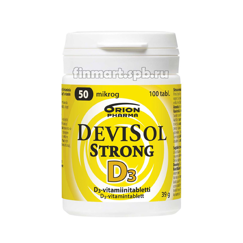 Витамин Д3 DeviSol Strong D3 50 мкг (Девисол стронг) - 100 шт.