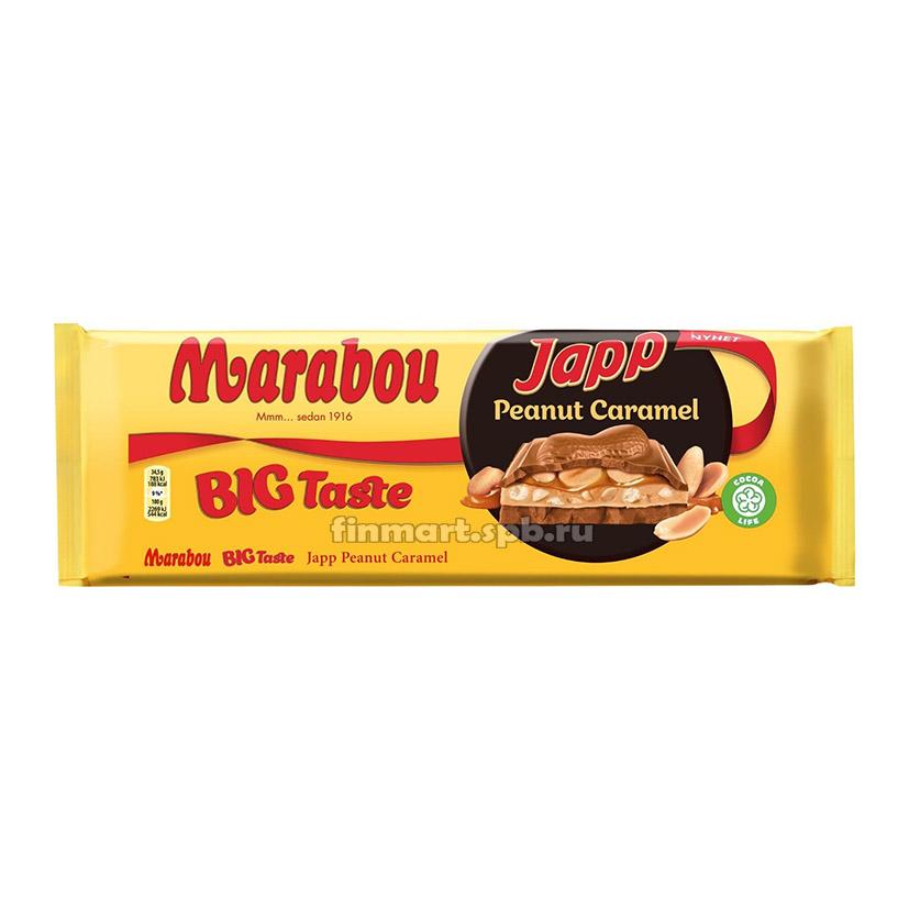 Молочный шоколад Marabou Japp peanut caramel - 276 гр.