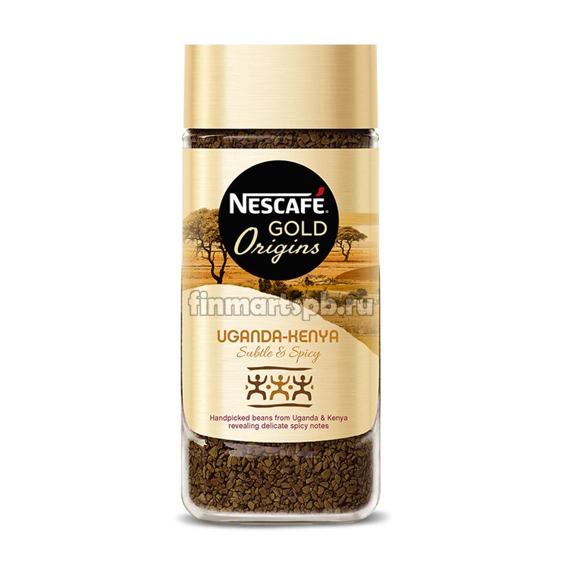 Растворимый кофе Nescafe Gold Origins Uganda Keniya - 100 гр.